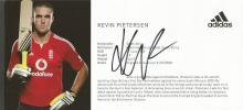 Kevin Pietersen signed adidas colour flyer. Good Condition. All signed items come with our