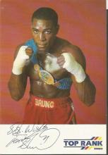 Frank Bruno signed colour Top rank bingo 6x4 colour photo. Good Condition. All signed items come