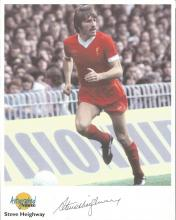 Steve Heighway signed Autographed Editions 10x8 colour photo. Biography on reverse. Good