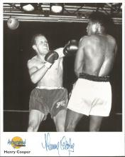 Henry Cooper signed 10x8 b/w Autographed Editions photo. Biography on reverse. Good Condition. All