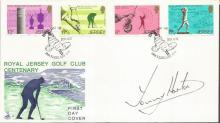 Tommy Horton golf champion signed 1978 Jersey Royal Golf Club FDC. Good Condition. All signed