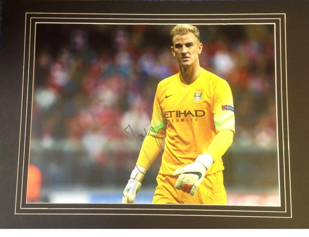 Football Joe Hart signed 15x20 mounted colour photo pictured during his time with Manchester City.