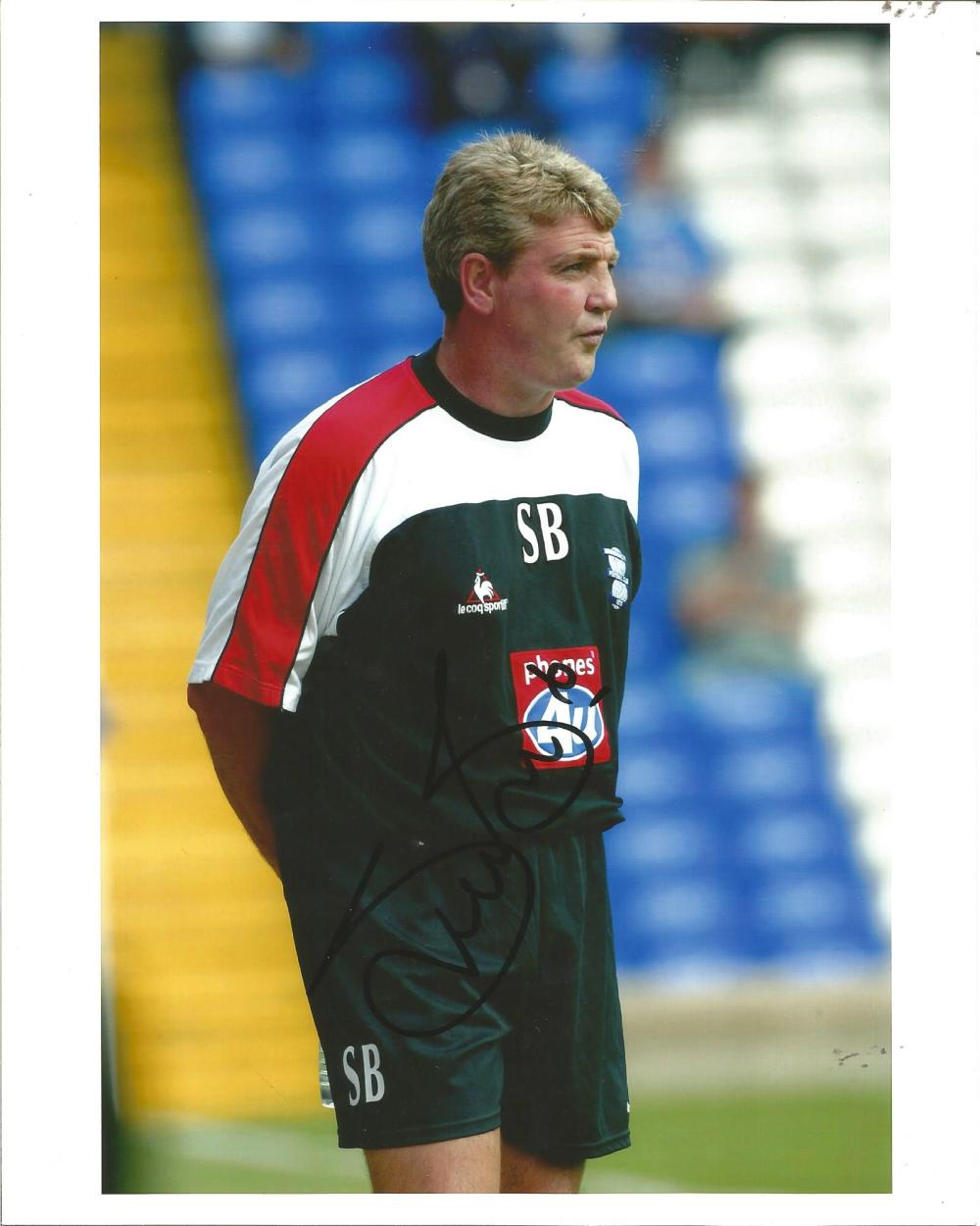 Football Steve Bruce 10x8 signed colour photo pictured while manager of Birmingham City. Good