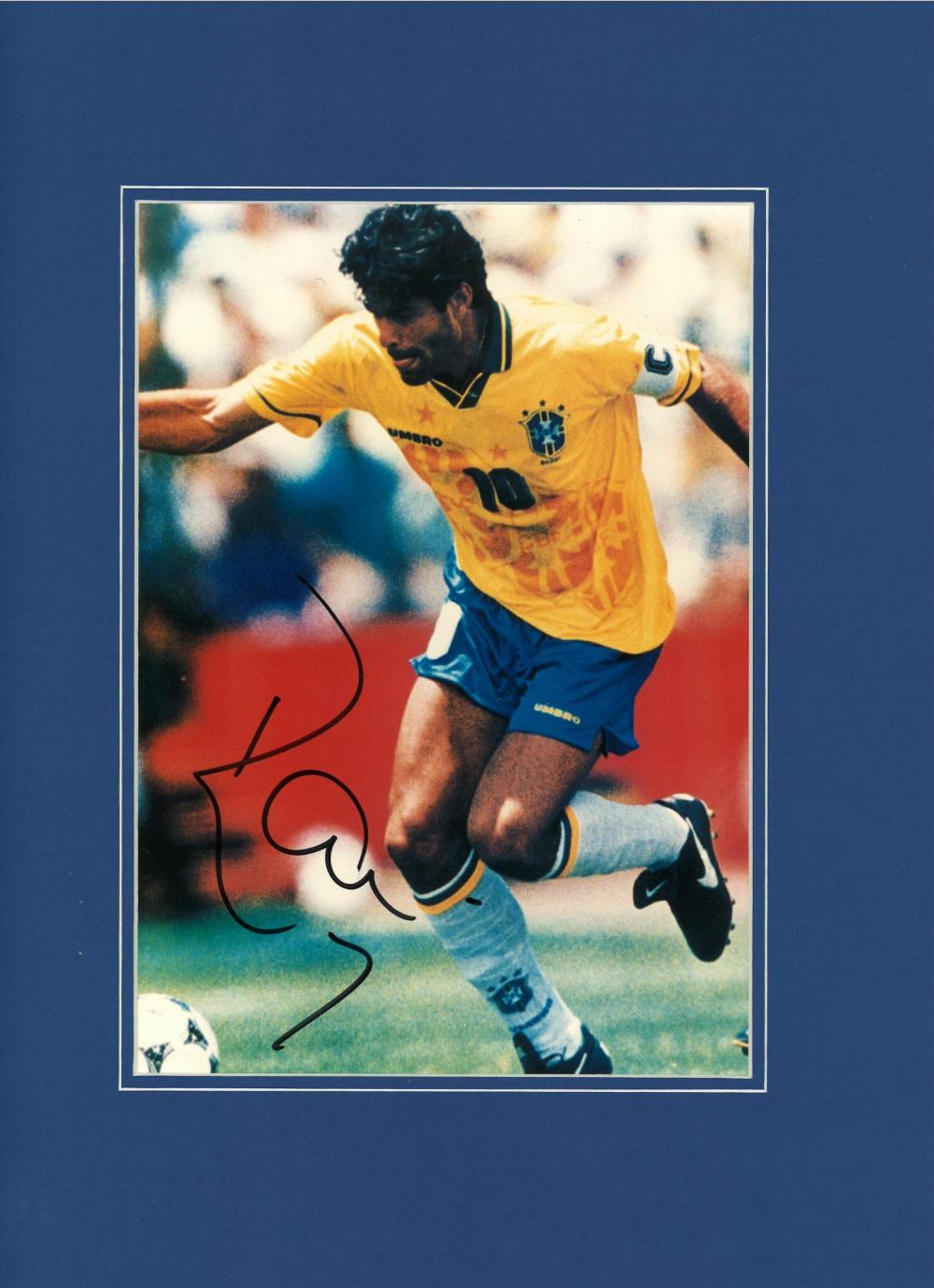 Football Kaka signed 16x12 mounted colour photo pictured in action for Brazil. Good condition Est.