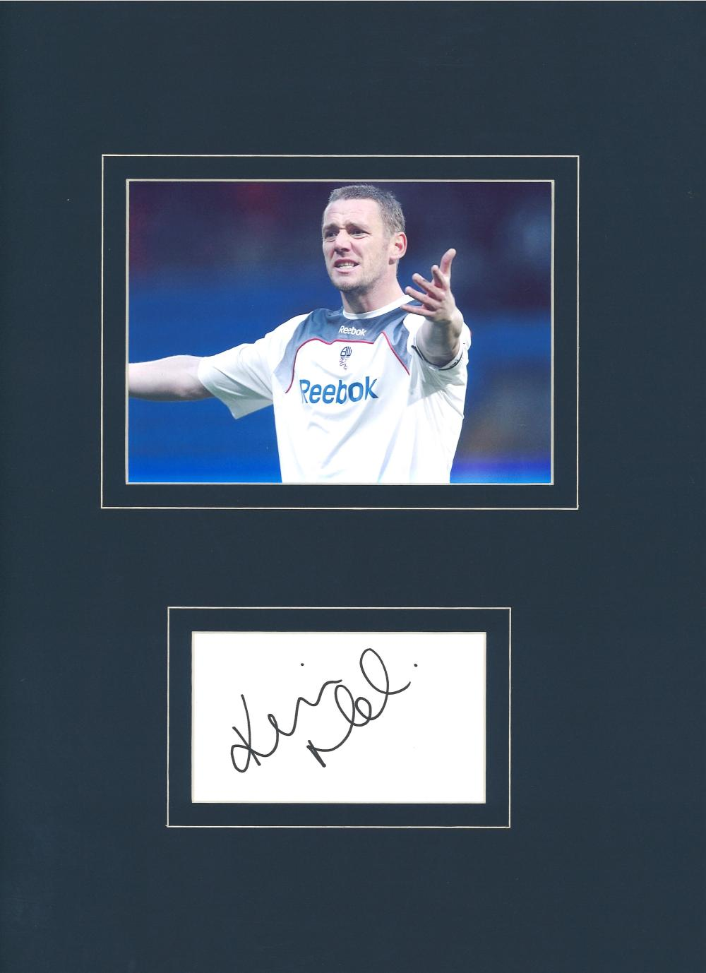 Football Kevin Nolan signed 16x12 mounted signature piece includes colour photo while with Bolton