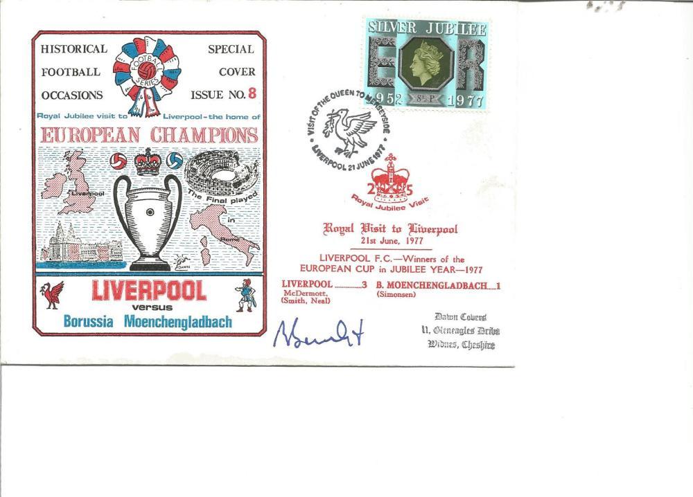 Football Rainer Bonhof signed Liverpool v Borussia Monchengladbach special FDC no 8 PM Liverpool