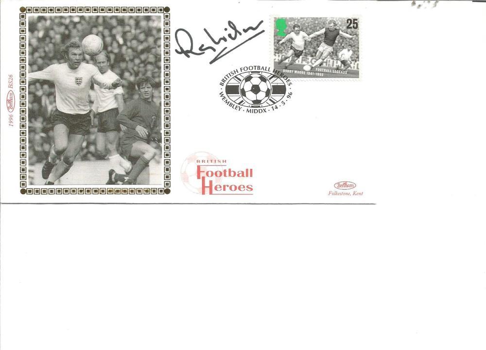 Football Ray Wilson signed British Football Heroes Benham silk FDC pm Wembley Middx 14. 5. 96. Ramon
