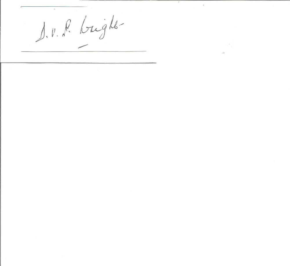 Cricket Legends Doug Wright 4x2 signed white card. Douglas Vivian Parson Wright (21 August 1914 - 13