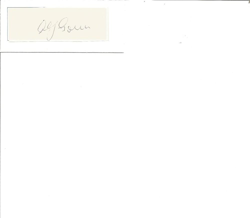 Cricket Legends Alf Gover 4x2 signed white card. Alfred Richard Gover MBE (29 February 1908 - 7