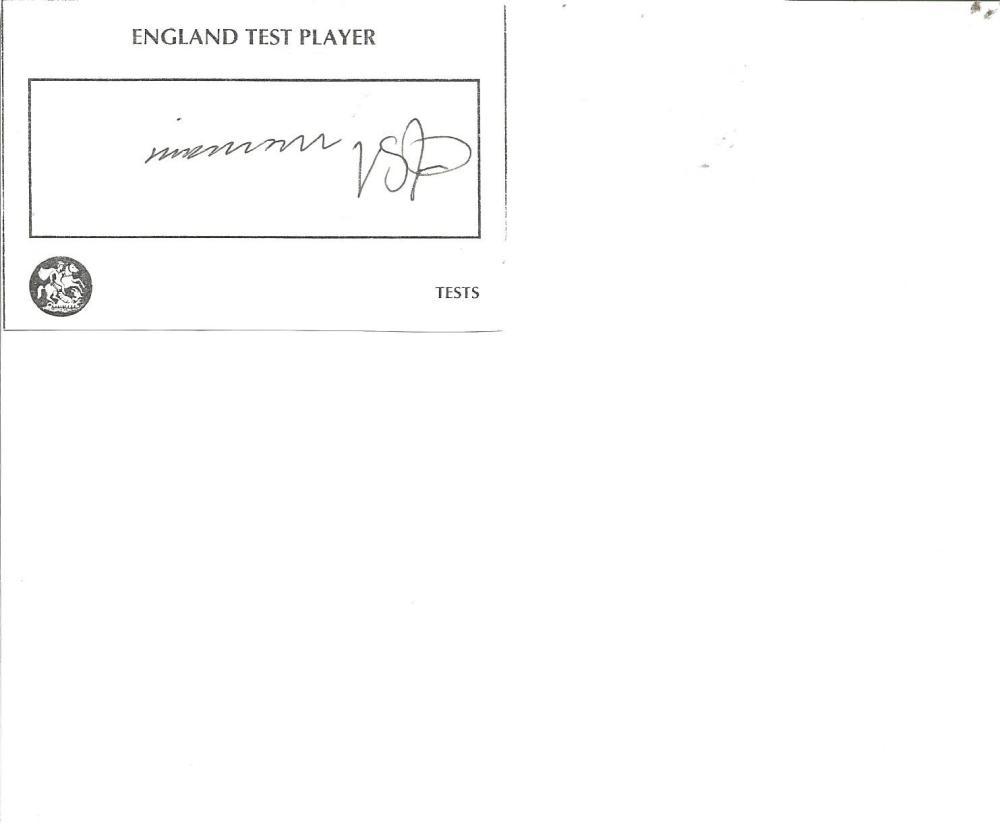 Cricket Legends Fred Trueman 4x2 signed white card. Frederick Sewards Trueman, OBE (6 February