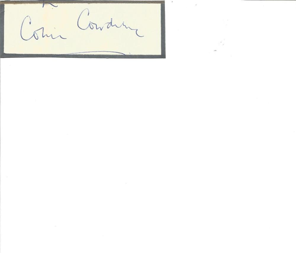 Cricket Legends Colin Cowdrey 4x2 signed white card. Michael Colin Cowdrey, Baron Cowdrey of