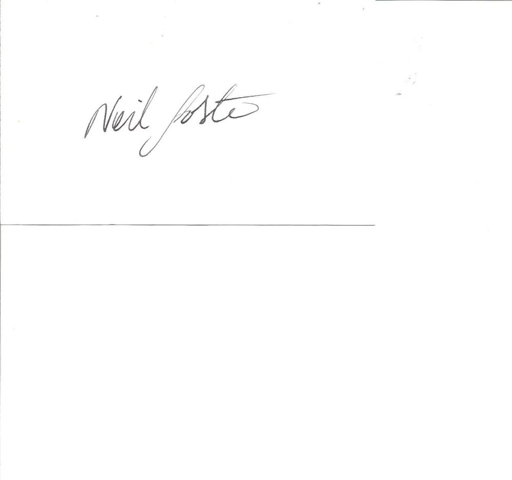 Cricket Neil Foster 3x5 signed white card. English former professional cricketer, who played 29 nine