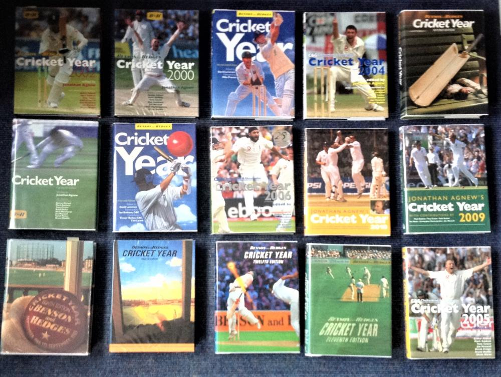 Cricket collection 29 hardback Benson and Hedges Year books complete from 1982 to 2010 with over