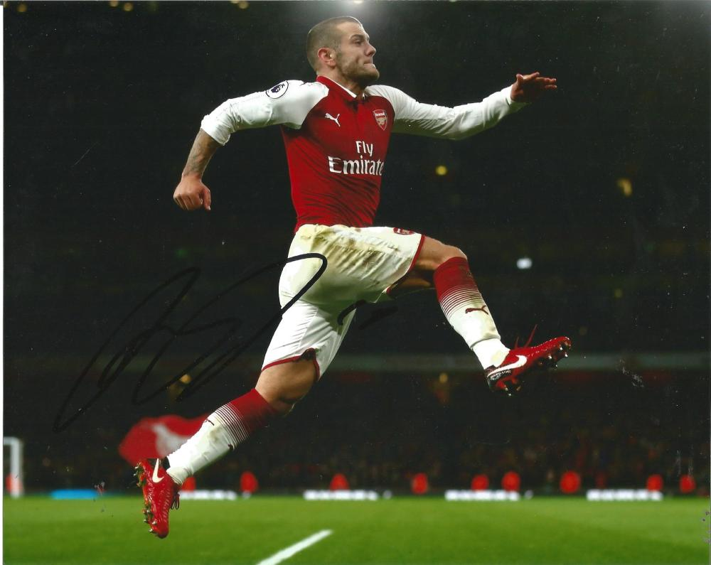 Jack Wiltshire Signed Arsenal 8x10 Photo. Good Condition Est.