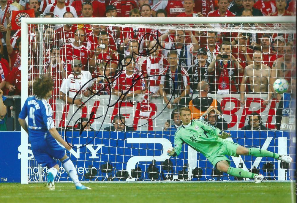 David Luiz Signed Chelsea 8x12 Photo. Good Condition Est.