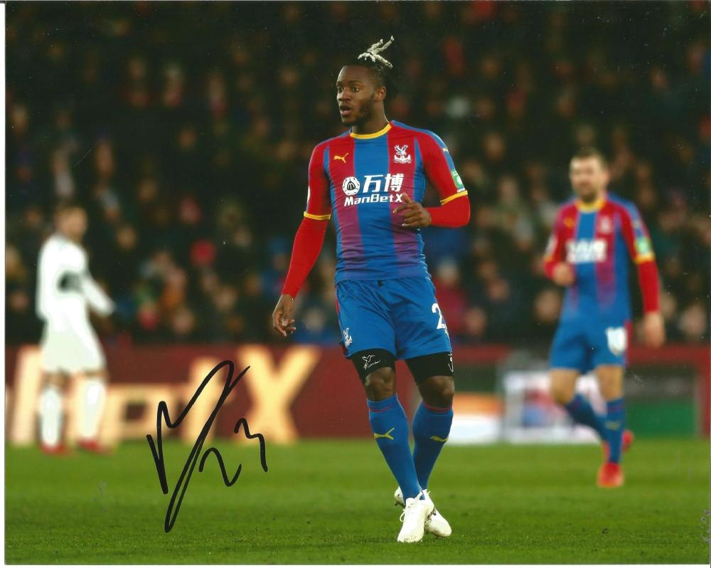 Michy Batshuayi Signed Crystal Palace 8x10 Photo. Good Condition Est.