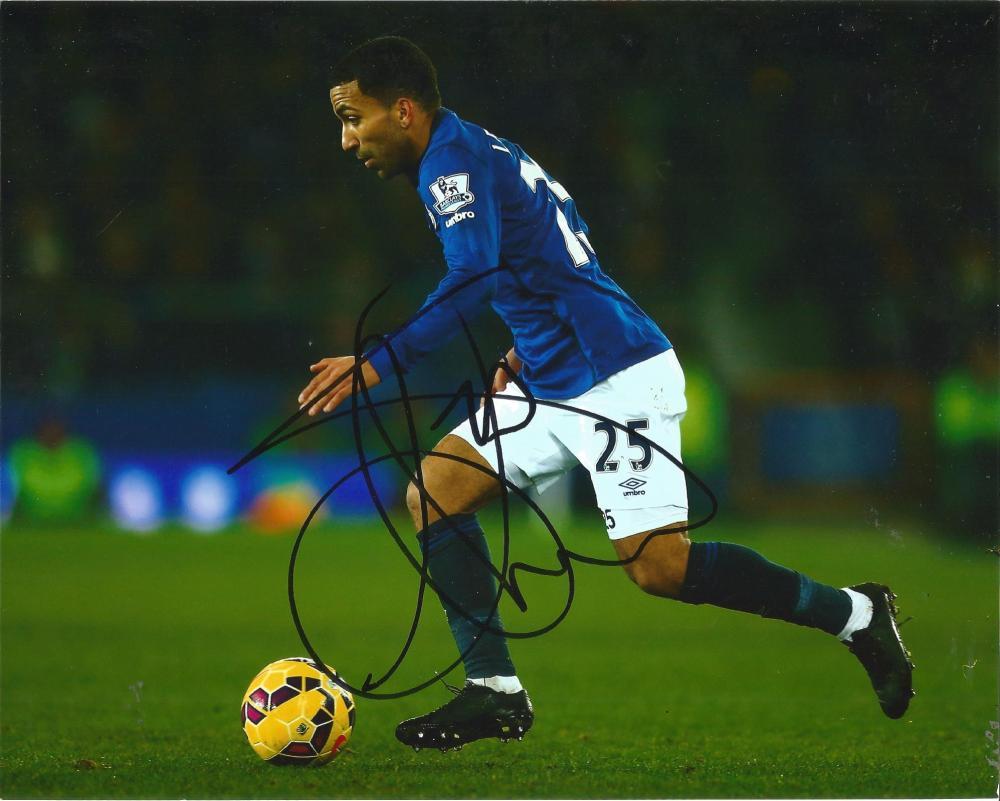 Aaron Lennon Signed Everton 8x10 Photo. Good Condition Est.