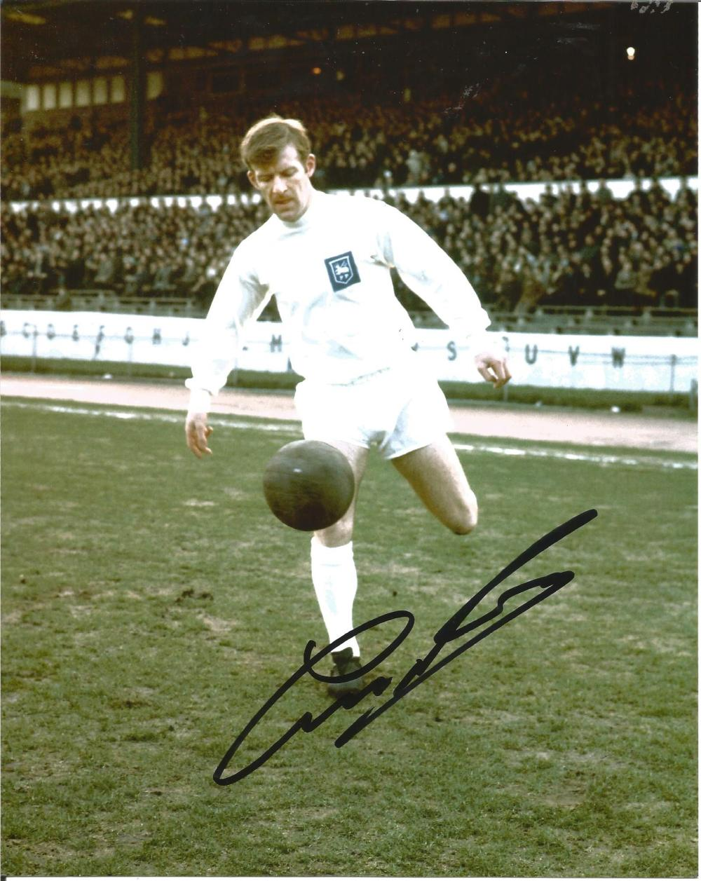 George Ross Signed 1970s Preston North End 8x10 Photo. Good Condition Est.