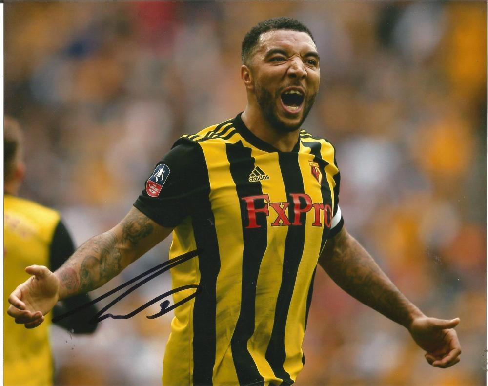 Troy Deeney Signed Watford 8x10 Photo. Good Condition Est.