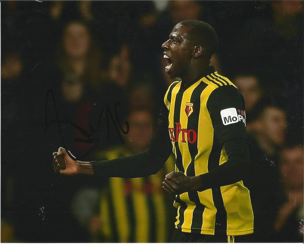 Abdoulaye Doucoure Signed Watford 8x10 Photo. Good Condition Est.