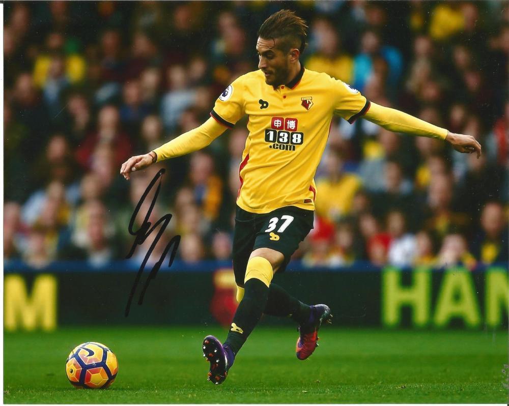 Roberto Pereyra Signed Watford 8x10 Photo. Good Condition Est.