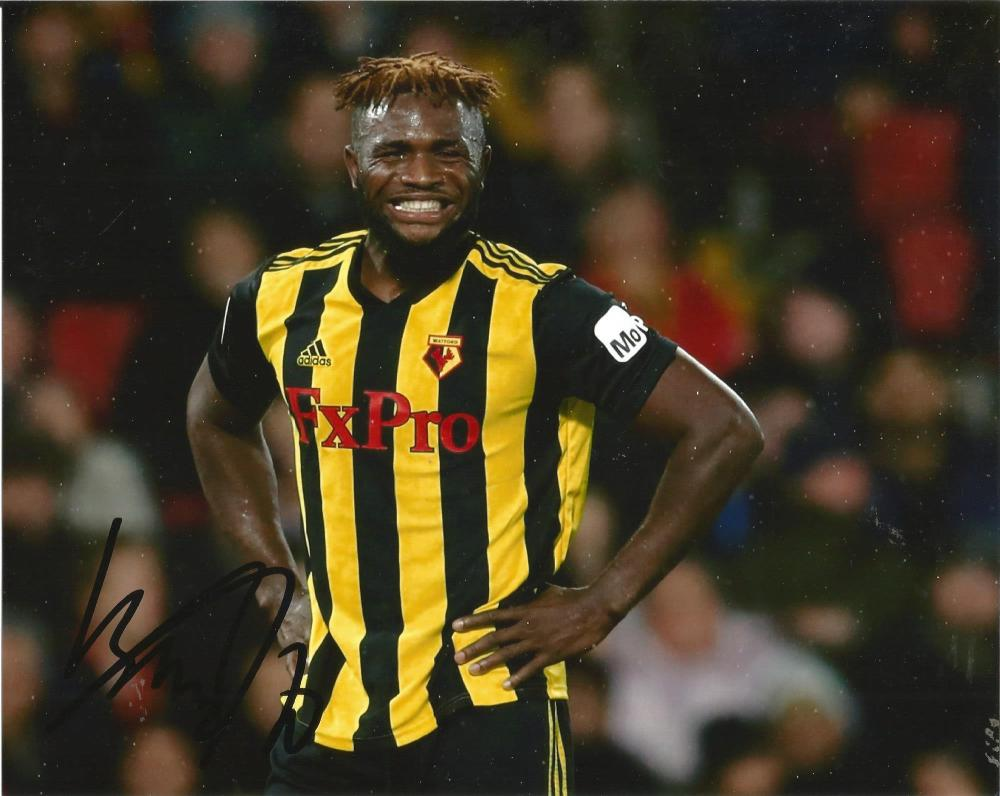 Isaac Success Signed Watford 8x10 Photo. Good Condition Est.