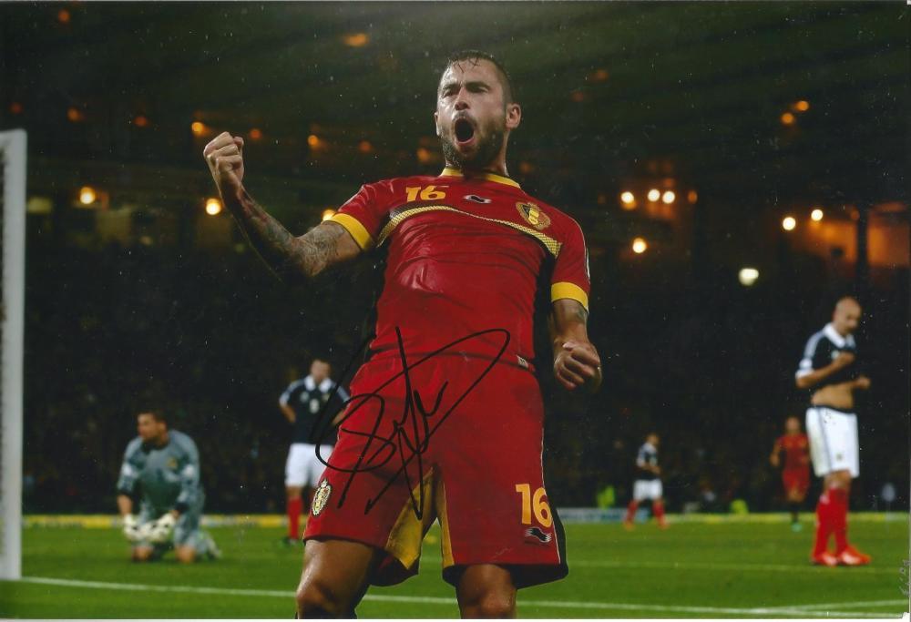 Steven Defour Signed Burnley & Belgium 8x12 Photo. Good Condition Est.
