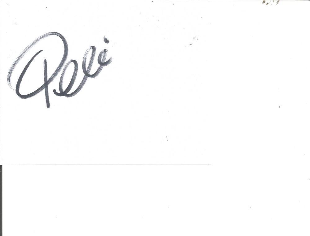 Pele Brazil Legend Signed 5x6 Page. Good Condition Est.