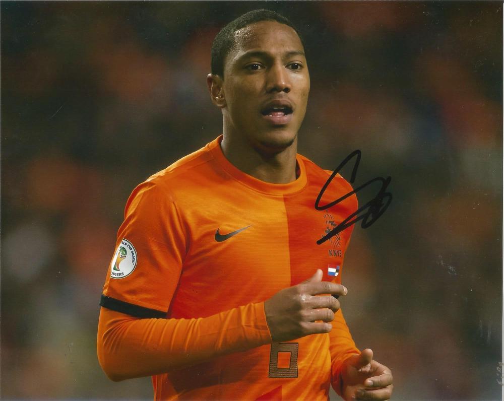 Jonathan De Guzman Signed Holland 8x10 Photo. Good Condition Est.