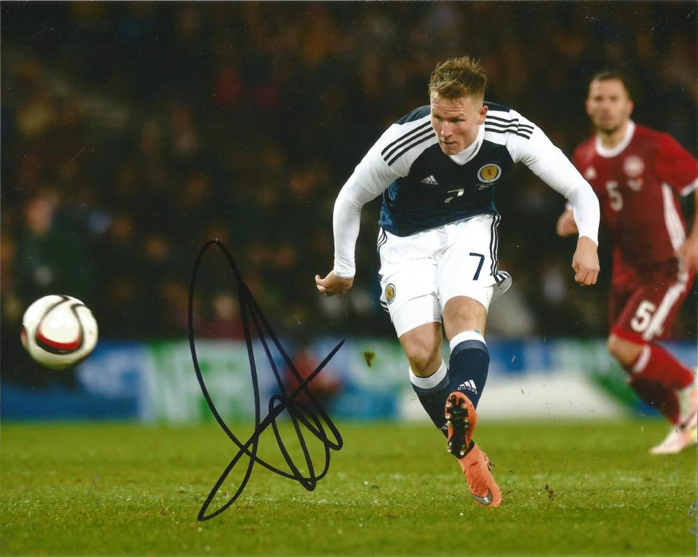 Matt Ritchie Signed Newcastle & Scotland 8x10 Photo. Good Condition Est.