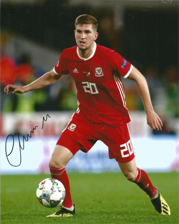 Chris Mepham Signed Wales 8x10 Photo. Good Condition Est.