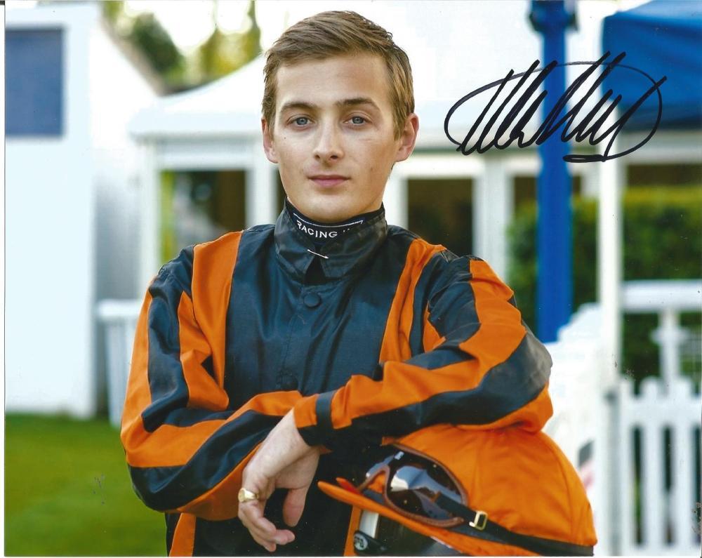 Harry Bentley Signed Horse Racing Jockey 8x10 Photo. Good Condition Est.
