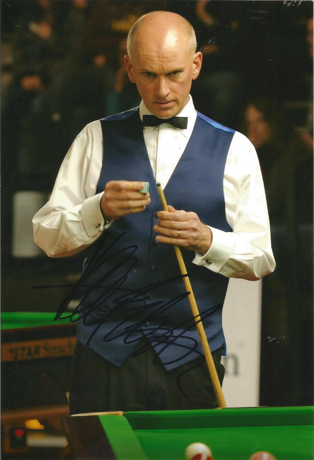Peter Ebdon Signed Snooker 8x12 Photo. Good Condition Est.