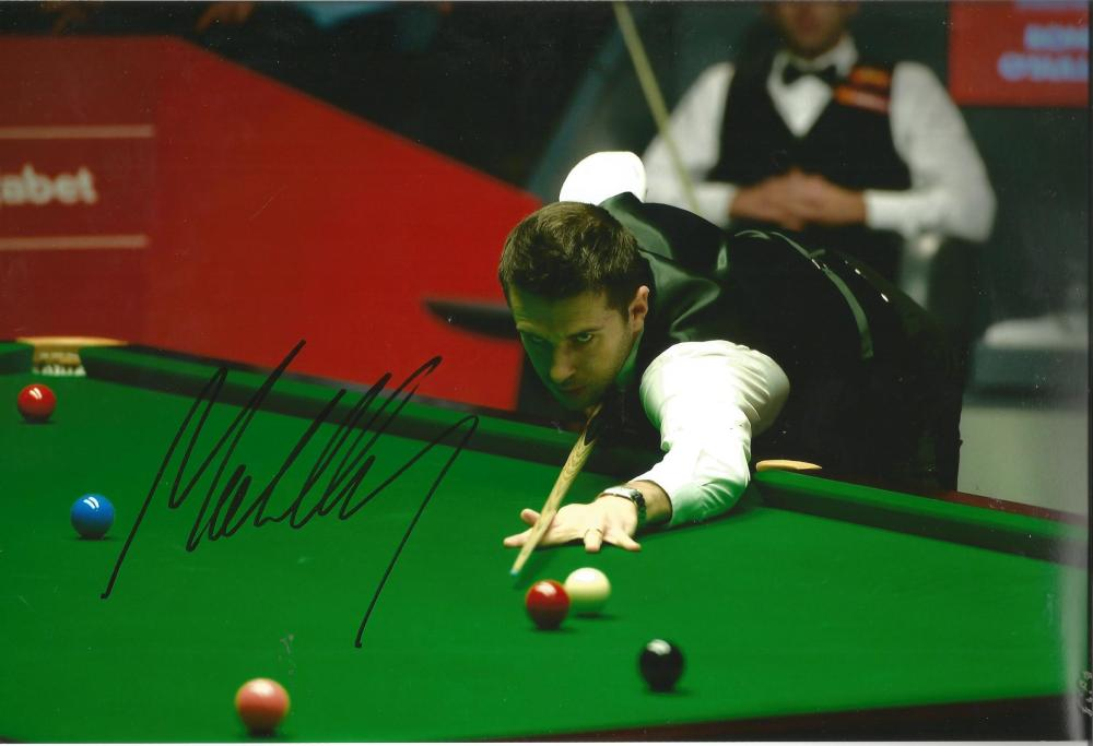 Mark Selby Signed Snooker 8x12 Photo. Good Condition Est.
