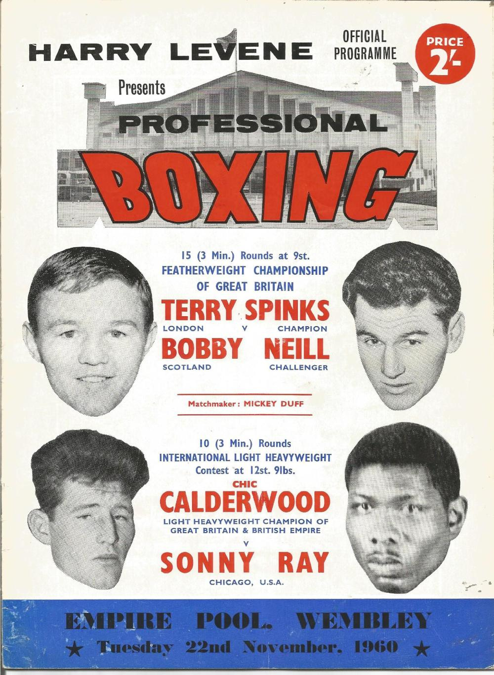 Boxing Terry Spinks v Bobby Neill Featherweight championship of Great Britain vintage fight