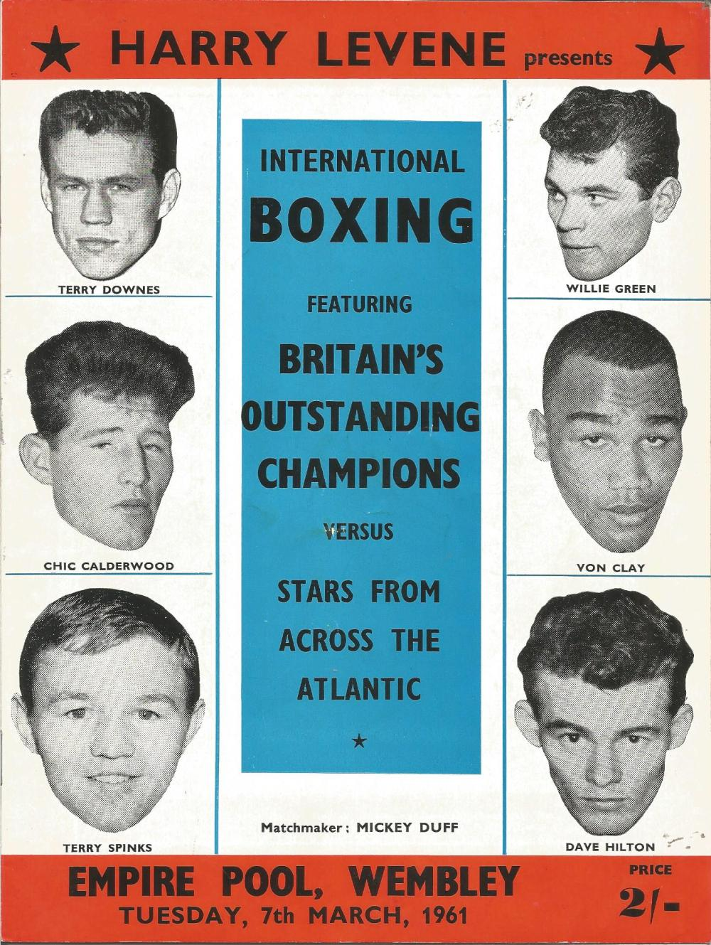 Boxing Britains Outstanding Champions v Stars from across the Atlantic vintage fight programme