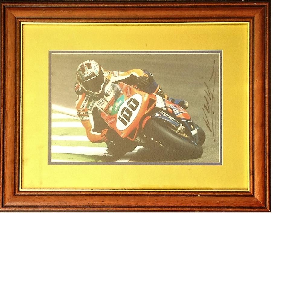 Motor Racing Neil McKenzie 14x11 signed colour photo mounted and framed to a high standard. Good