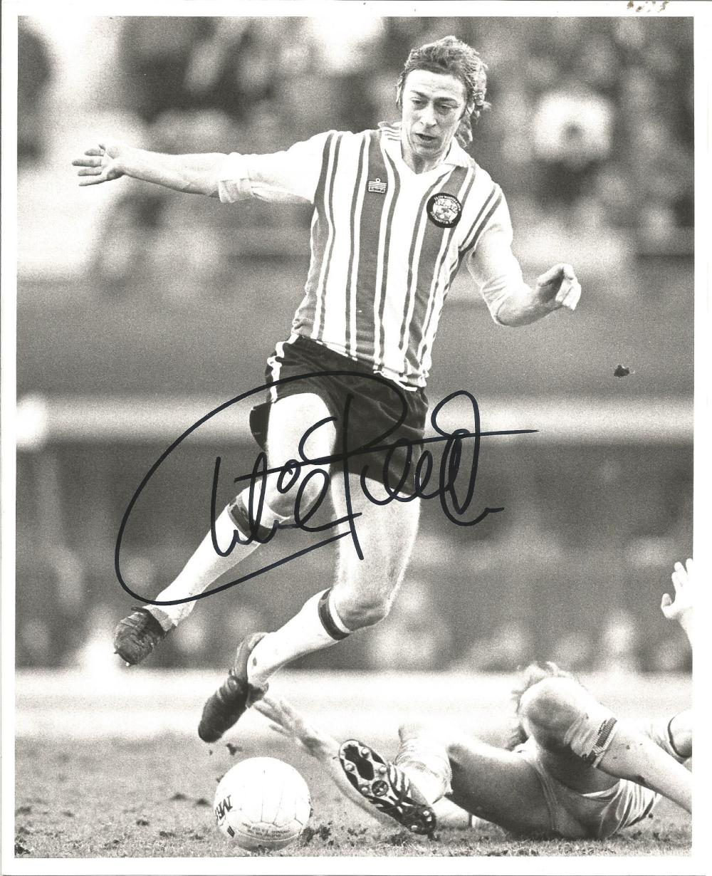 Football Charlie George 10x8 signed b/w photo pictured in action for Southampton. George began his
