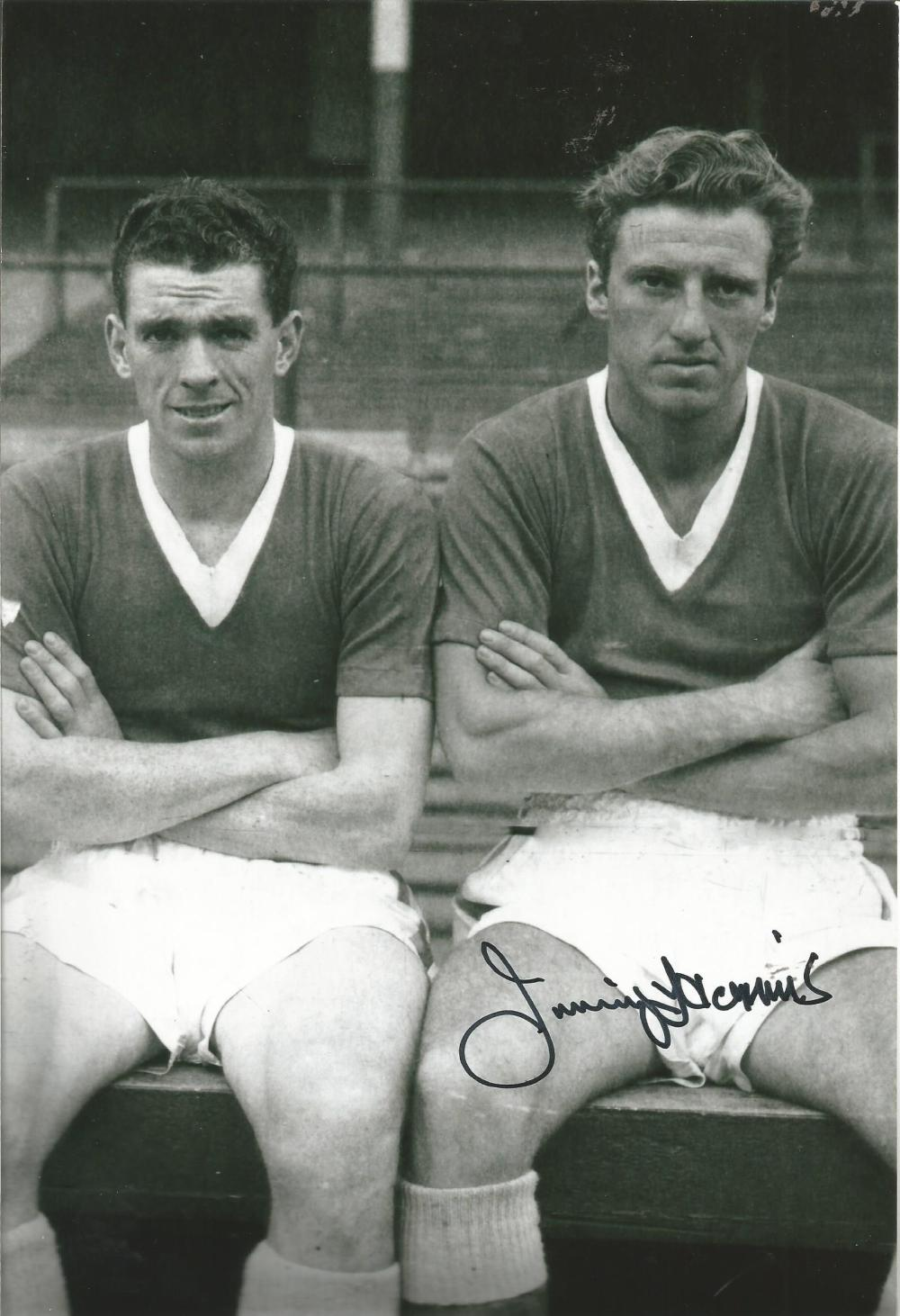 Football Jimmy Harris 12x8 signed b/w photo pictured while playing for Everton. Good condition Est.