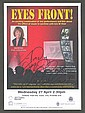 Isla St Clair signed tour leaflet dedicated to Andy  mounted to 12 x 8 black card.
