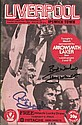 Multi signed Liverpool V Southampton 1981