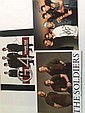 Music Bands signed photos ten autographs on three
