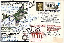 10 Luftwaffe KC Aces: signed RAF Leeming FDC