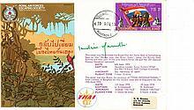 Indira Gandhi, signed rare RAF Escape from Asia RAF WW2 cover