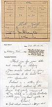 Squadron Leader J.R. Pratt log book page signed.