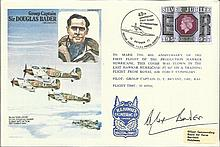 Sir Douglas Bader DSO DFC signed on his own