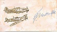 Randolph Stuart Mills Very Rare Battle of Britain Signature 3.