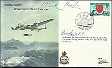Dambuster Micky Martin signed B30 Avro Lancaster cover plus Bill Reid VC