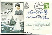 Karl Donitz and Arthur Harris signed Sqn Ldr Bulloch Historic Aviators cover
