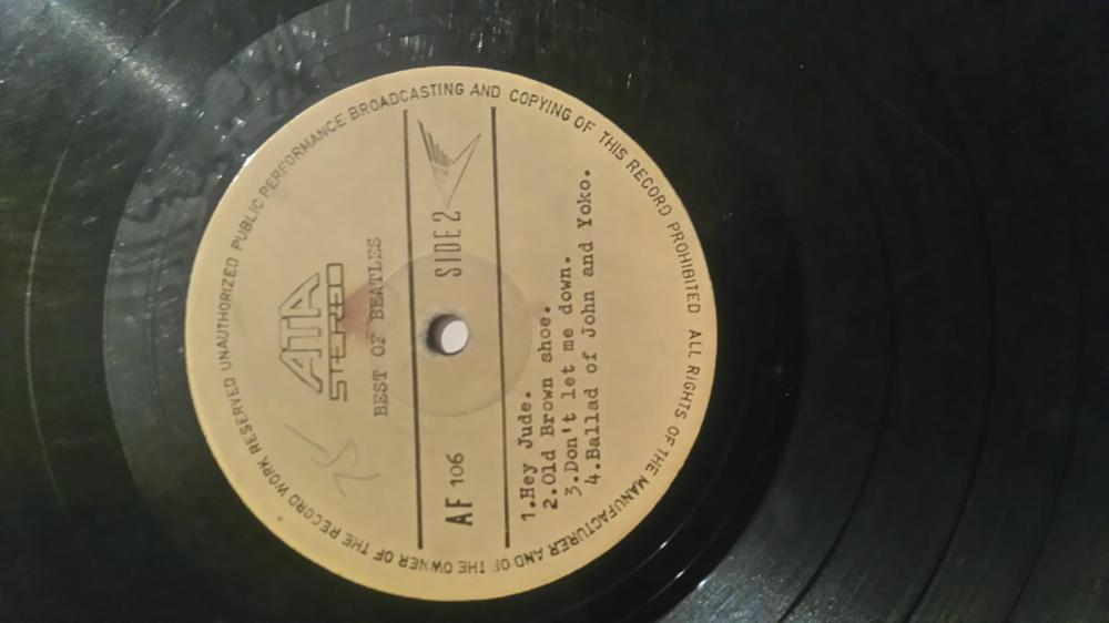 Rare Beatles Hey Jude Test Press Vinyl Record